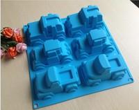 Free shipping  6  Car mold silicone mold cake mold cake tools baking tools Bakeware cake tool