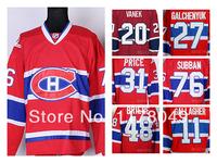 Montreal Canadiens Ice Hockey Jerseys patrick roy carey price Thomas Vanek Alex Galchenyuk PRICE P.K. Subban BRIERE Gallagher