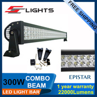 52 Inch 300W Led Work Light Bar Combolights Offroad 4WD SUV Car Boat Driving 22000lm Light bar led