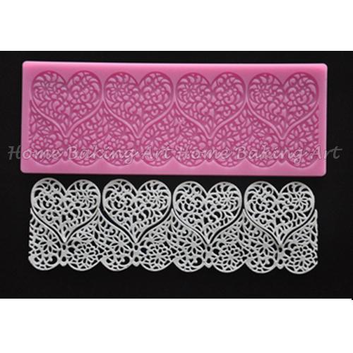 Silicone cake side design,lace side mold,cake decorating lace mat ,free shipping(China (Mainland))