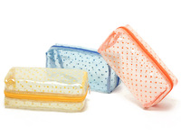 Transparent PVC waterproof square wave point Cosmetic Bags(1pc,assorted color)