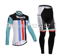 2014 Bianchi Cycling Jersey bicicleta Ropa ciclismo bicicleta bicycle bike maillot clothing (bib) pant winter Fleece Thermal