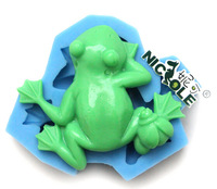 (1pc/lot) New Frog fondant cake mold silicone baking tools pudding dessert molds for cake decorating chocolates soap mould C0124