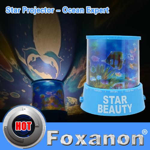 NightLight 4LED Love Gift Cosmos Star Sky Master Underwater World, Dolphin kissing Fish Star Projector Lamp(China (Mainland))