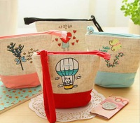 Free ship!20pc!Creative Illustration cotton Coin Purse / color holding key bag/small mini wallet