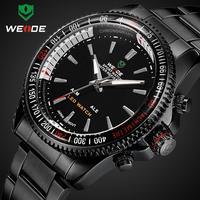 Army watch BrandWeide mens sports watch special waterproof luminous Dual Time Dial Alarm  LED Digital Quartz Watch
