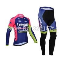 2014 LAMPRE MERIDA winter Fleece Thermal Cycling Jersey bicicleta Ropa ciclismo bicicleta bicycle bike maillot clothing bib pant