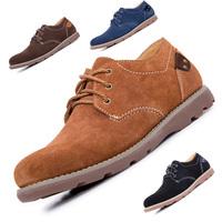 Classic Brand Genuine Leather men Oxford shoes men Outdoor shoes High quality Cheap men Nubuck Leather shoes men shoes