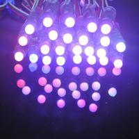 Christmas lights 50pcs/lot 12mm ws2811 IP65 waterproof 5v module digital rgb pixel string