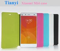 "Free shipping Xiaomi Mi4 case,flip leather (PU) back cover for Xiaomi 4 M4 Mi4 5.0"" quad core mobile phone"