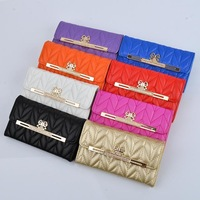 Super Fashion Shoulder Bags Design Wallet Phone Case For iphone 5s 5, 8 color, with Metal Chain, 1pc freeshipping