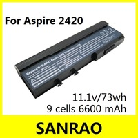 9 Cells 6600 mah 11.1v 73wh Laptop Battery for ACER 2420 3670 4720 5540 5550 4120 4620 5596 3623 2920 3010 6252 6593 6292 6231