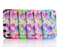 1pc fashion hot selling New Arrive 3 pieces Colorful Bubble High quality Hard Case For Samsung Galaxy S4 i9500