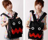 Womens  Vintage flower pink red plaid Floral Bag Schoolbag shoulder bag