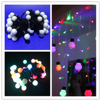 Wonderful 30M 50LEDs AC220V RGB LED Ball String Light Waterproof Christmas Lights For Holiday Party Decoration