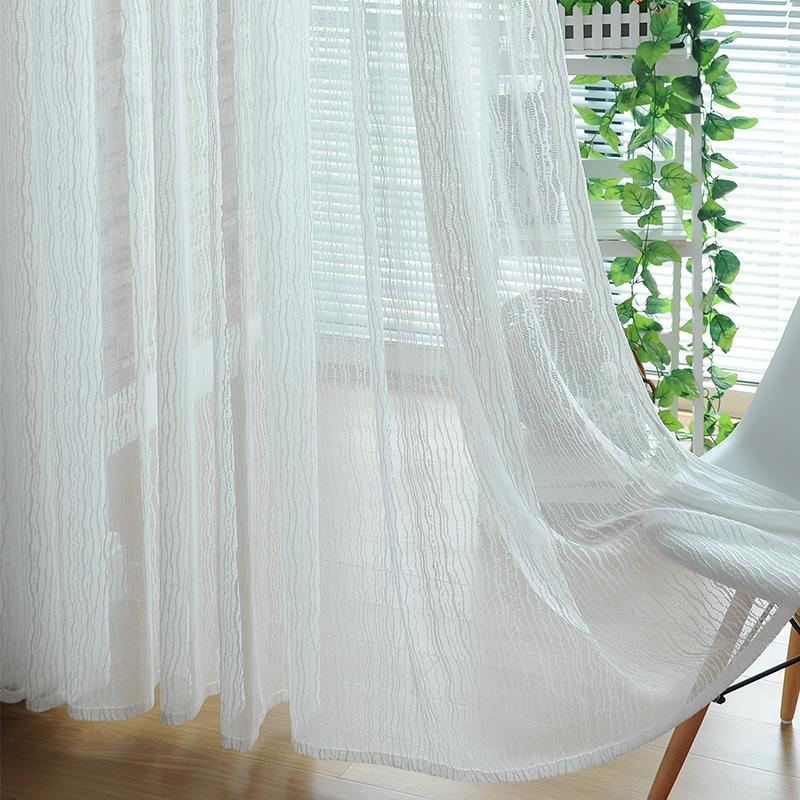 moderna breve do jacquard da listra telas varanda piaochuang translucidus cortina cortina curta(China (Mainland))