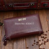 Genuine Leather Man Wallet 2014 New wallet for Men arrival brand design purse fushang fold wallets