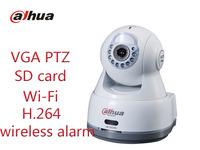 Free shipping Dahua Security Mini Camera VGA PTZ Network Camera IP Camera IR10m SD card support Wi-Fi wireless alarm cctv camera