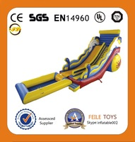 used inflatable water slide for sale/inflatable slide with water pool
