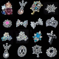 50PCS Alloy Nail Art Glitter Rhinestones For Nail Decoration Styling Tools Cell Phone Jewelry Accessories Charm C