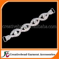 2014 high quality diamante rhinestone connector for bikini for free shipping