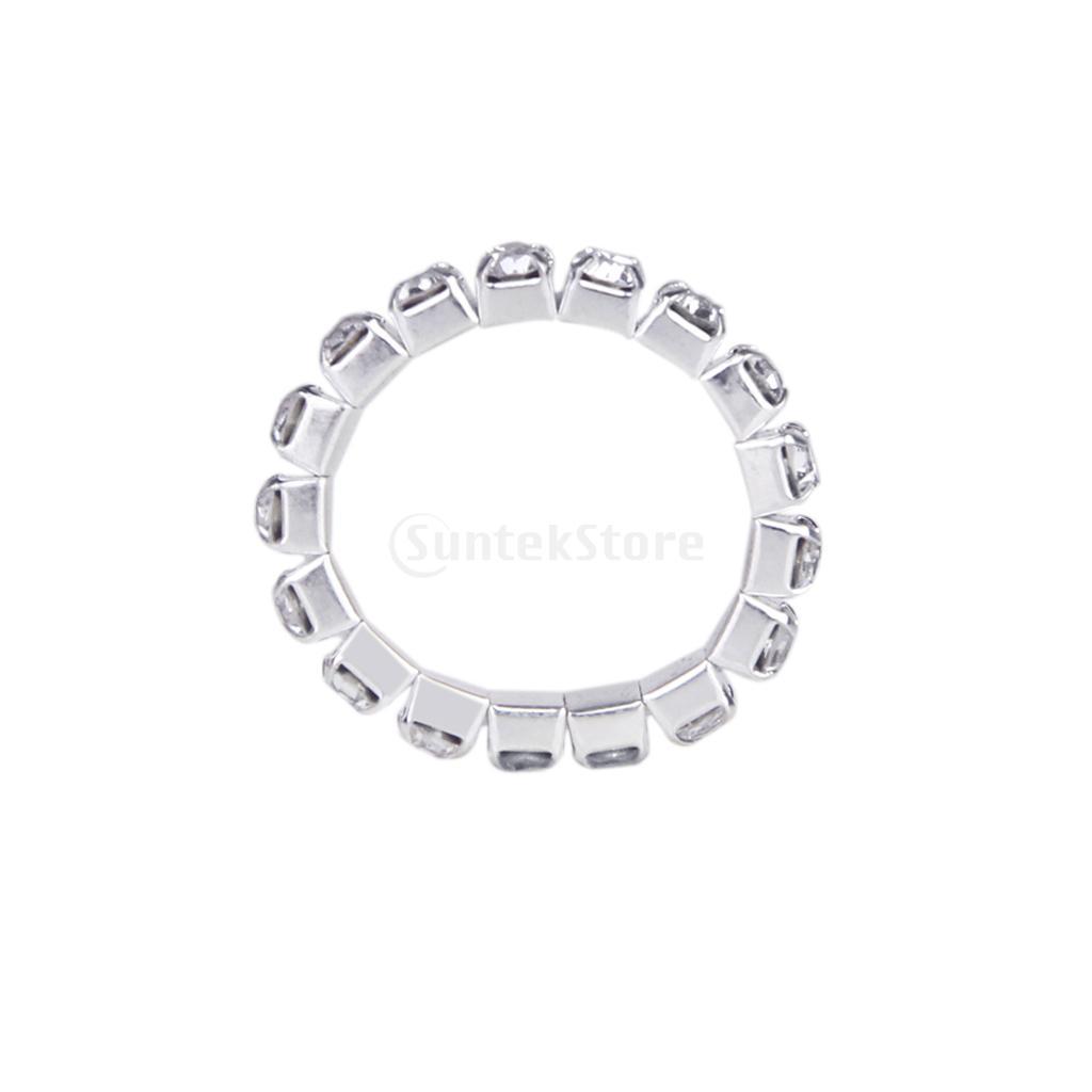 New 2014 Brand New Elastic Silver Tone Single Row Crystal Rhinestone Toe Ring Bridal Jewelry 3mm