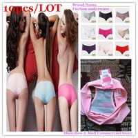 Free Shipping Wholesale Brand Name Ladies Underwear Panties Cotton Ladies Underwea Plus SizeM,L,XL Women Sexy Underware10PCS/LOT