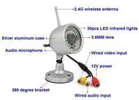 2.4G wireless surveillance camera head cctv lens   ip camera  security camera  hikvision