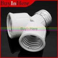 E27 screw Base Light Lamp Bulb Socket LED Halogen CFL 1 to 2 Splitter Adapter Converter