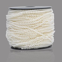 100m/roll 2.5mm shinny round wedding pearl bead garland rope fixed string decoration wa069