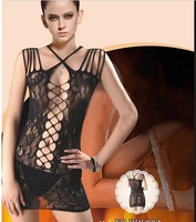 New Women's Sexy Black Lace Bodysuit Lingerie Fishnet Body Stocking Camisoles free shipping
