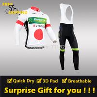 2014 Europcar 1 winter Fleece Thermal Long Sleeve and Bib Pants Cycling Jerseys /Wear/Clothing/Bicycle/Bike/Riding jerseys/Gel