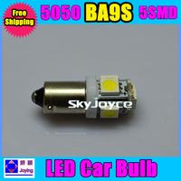 20X T11 BA9S T4W H6W 363 White 5 LED 5050 SMD Car Wedge Side Light Lamp Bulb 12V led clearance bulb