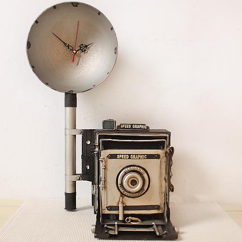 Shabby Chic Metal Iron Nostalgic old-fashioned camera Model(China (Mainland))