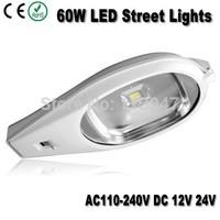 2pcs 60W led street lighting AC85-265V DC24V/12V 6000lm 60W outdoor led street lamp available for solar system