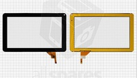 "Touchscreen for China-Tablet PC 9"" Tablet, (black, capacitive, 12 pin, (233*141 mm)) #MF-198-090F-4/MF-195-090F-4"