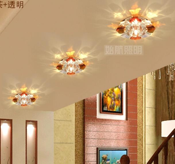 free shipping! new arrival 3W modern crystal ceiling light lamp for home designe decor white/warm white 110v 220v 240v abajur(China (Mainland))