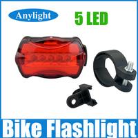 New Waterproof led bike light 5 LED Torch Bicycle lanterna Rear Safety lamp WLF85