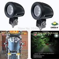 2PCS CREE 10W LED Work Light  Spot Driving Lamp 12V Car Motorcycle ATV