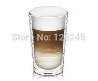 Set of 2 pcs Double wall hand-blown glass Nespresso Citiz glass Espresso capsule 300ml free shipping