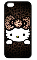 Retro Hello Kitty style hard back phone cases black cover case for Iphone 4 4s 5 5S 5C Q1046