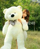 Stuffed Giant 60CM Big Beige Plush Teddy Bear Huge Soft 100% Cotton Doll Toys White Teddy Bear Plush Toy Gift