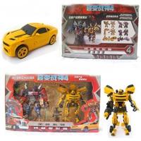 New Edition Boy Plastic Bumblebee Optimus Prime Transformation Robots Toy Model Action Figure Autobots Toy Children's Gift WJ039