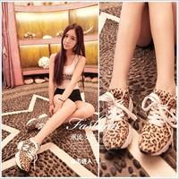 2014 Korean Thick Bottom Letter Movement Leisure Leopard Lady Climbing Shoes (Size 35-39)/Leopard grain shoes/N   girl shoe82511