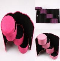 1pc/lot Portable Flannelette Jewelry Storage Box Holder Cosmetic Case Organizer Gift Box  EJ670388