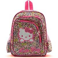 2014 New Designed Fashion School bag Hello kitty Leopard Printed Schoolbags Children's Casual Backpack Child Boy Girls Schoolbag