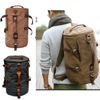 Men's Stylish Rucksack school bag Messenger Hiking bag Travel Bag Canvas Backpack