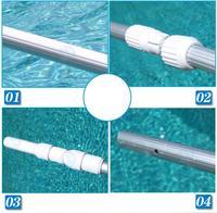 Brand New 3.6m Free Shipping Swimming Pool Lifebelts Rod Retractable Pole life-Saving Rod