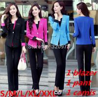 S/M/L/XXL size women work wear suits 2014 new plus size professional office uniforms women pants suits free shipping
