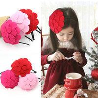 New 2014 fashion baby girls lovely flower hairband girl's hair wear kids hair band headband children accessories
